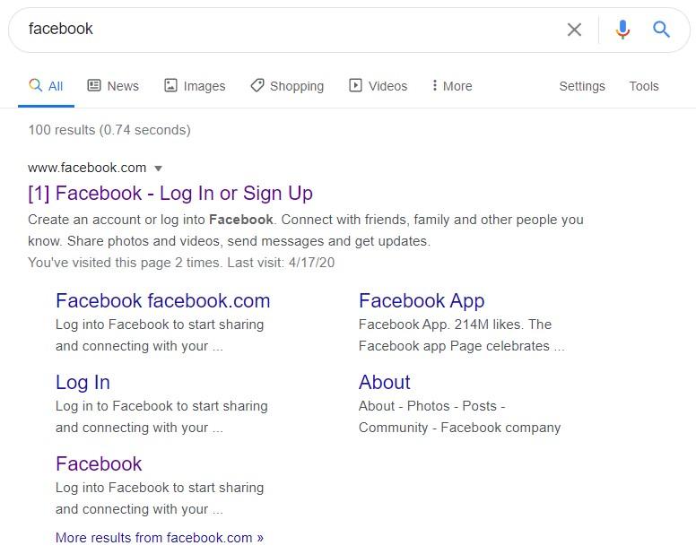 zapytanie nawigacyjne w Google
