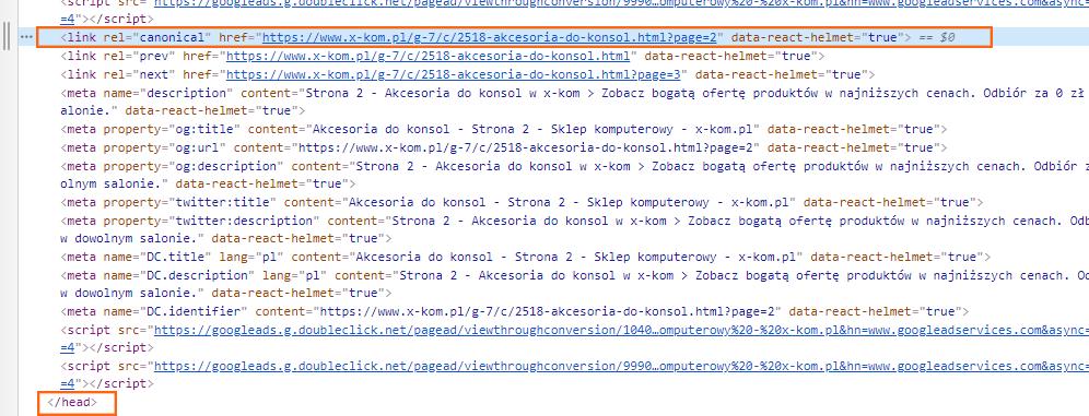 Gdzie dać tag kanoniczny w kodzie HTML